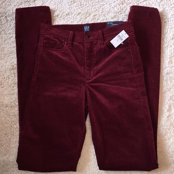 GAP Pants - NWT GAP SZ 27 Tall velour high rise skinny pants